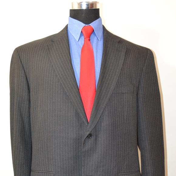 Haggar Other - Hagger 46L Sport Coat Blazer Suit Jacket Dark Gray